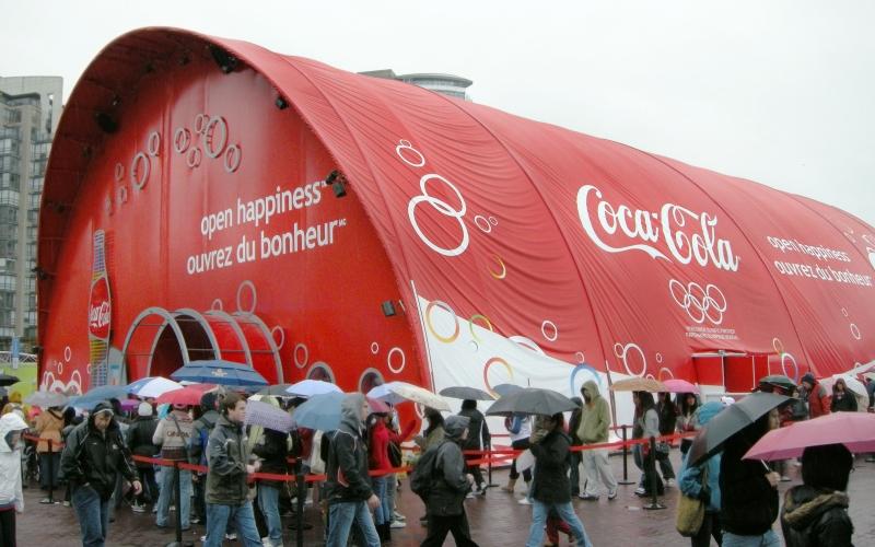 Coca-Cola Vinyl Decals Vancouver Olympic Site