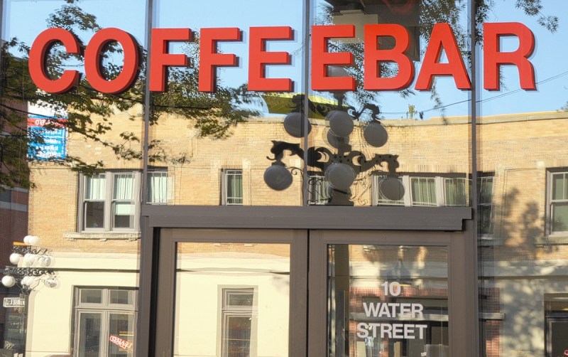 Coffeebar Foam Signs Vancouver Water-St Front