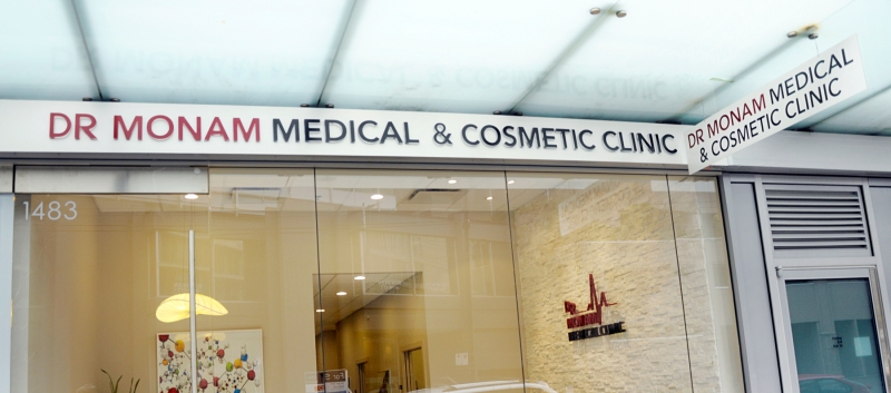 Dr.Monam Metal Signs Vancouver Pender St Exterior