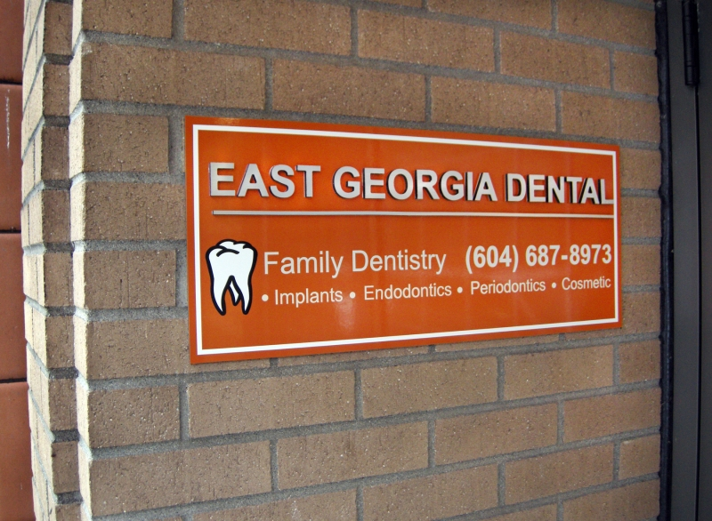 East Georgia Dental Vinyl Signs Vancouver Georgia-St