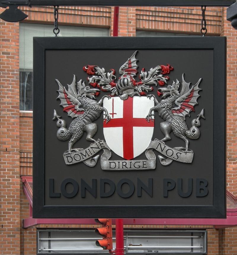 London Pub CNC Engraved Signs Vancouver Georgia-St