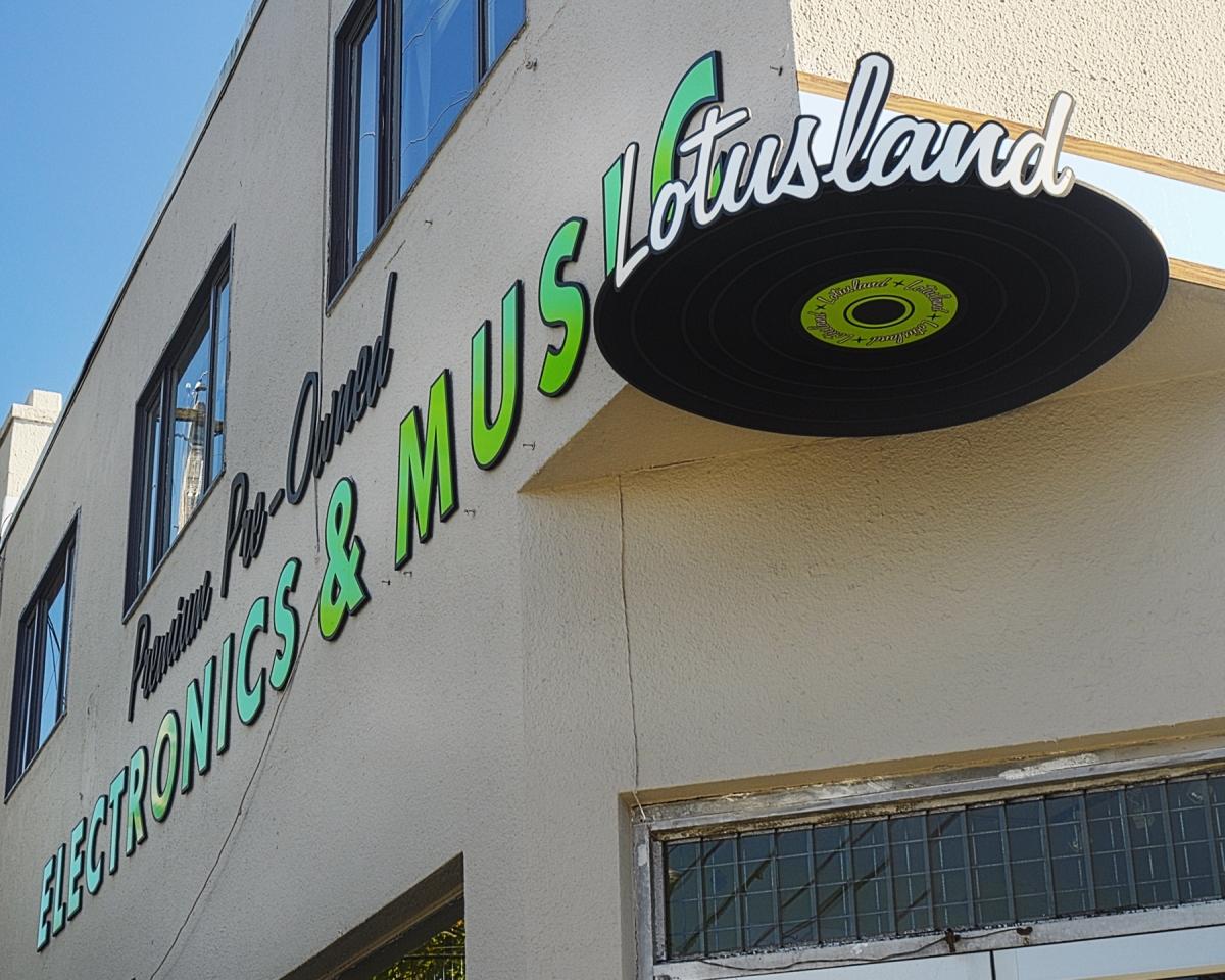Lotusland CNC Engraved Signs Vancouver Alma-St Corner