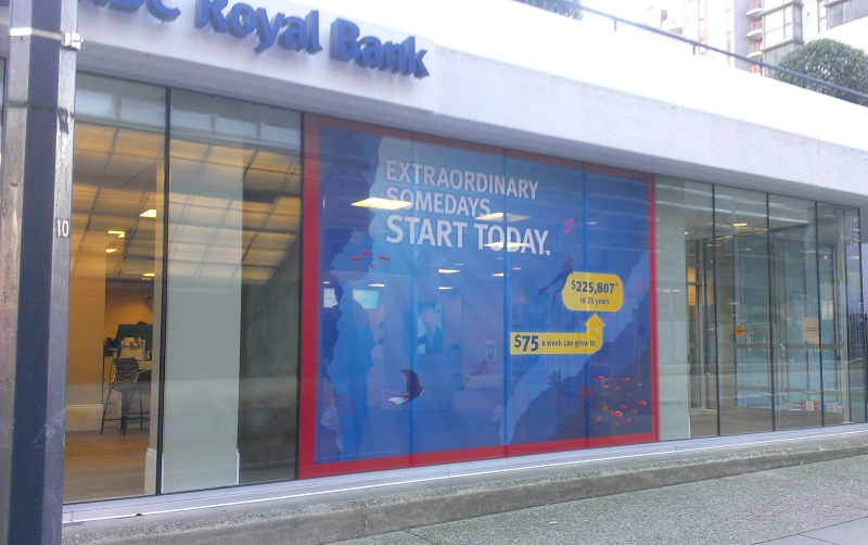 Rbc window signs vancouver